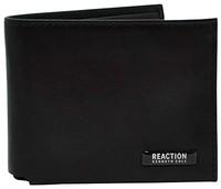 Kenneth Cole REACTION 男式 RFID Slimfold 拉链口袋皮革钱包