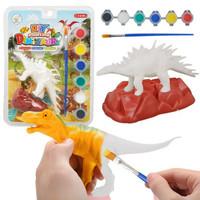 约巢 儿童创意手工diy涂色涂鸦模型 小恐龙3只