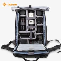 TARION德国相机包单反专业防水多功能大容量摄影双肩背包 XP灰色