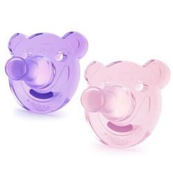 飞利浦新安怡 安抚奶嘴 奶嘴 牙胶 全硅胶 0-3个月 粉色/紫色(2个装)美国进口 *2件 +凑单品
