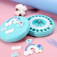 儿童乳牙盒DIY彩绘木制宝宝掉换牙齿保存盒