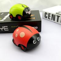 儿童双回力惯性玩具车儿童卡通车甲壳虫小蜜蜂款耐摔模型小汽车 4只装
