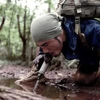 自由兵户外净水器 野外求生工具 野营旅行便携式过滤水器 直饮水器军迷装备