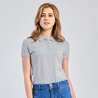 真维斯Polo衫女 夏装新款女士短袖T恤休闲弹力学生翻领上衣