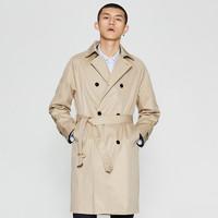MECITY 530381 男装腰带时尚中长款风衣