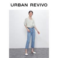 UR2020春秋新品女装青春减龄直筒牛仔裤WE14SBKN2000