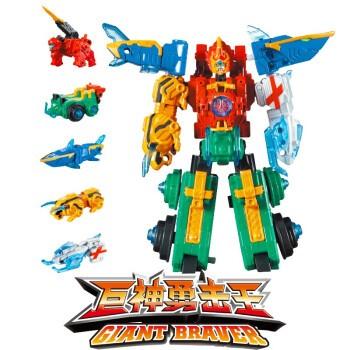 AULDEY奥迪双钻 巨神战击队3 变形合体机器人  巨神勇击王 珍藏版