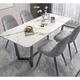 川欧 岩板餐桌椅组合  1.2米大理石桌+天鹅椅*4 1979元包邮
