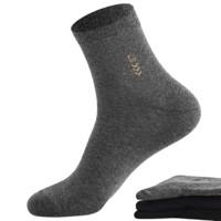 Langsha 浪莎 MF8770-6 男士纯棉中筒袜 6双装 *2件