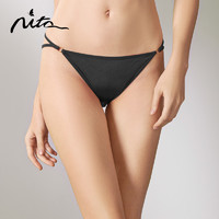 Nita妮塔真丝低腰内裤女性感春夏100%桑蚕丝薄款透气无痕薄三角裤