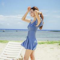 SANQI 三奇 20078 女士连体泳衣