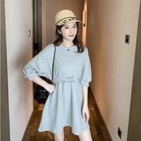 薇靡雅(WEIMIYA)103458731596565028 韩版纯色连衣裙