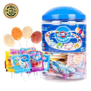 京东PLUS会员 : 徐福记棒棒糖熊博士果趣星座棒混合奶味60支