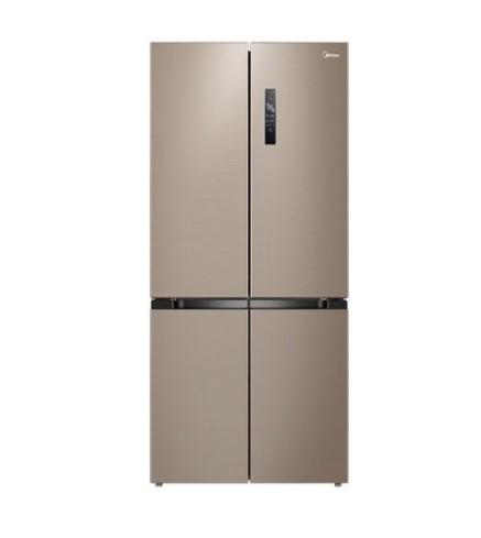 美的(Midea)495升十字对开门家用超薄电冰箱四开门一级能效双变频风冷无霜温湿精控智能家电BCD-495WSPZM(E)