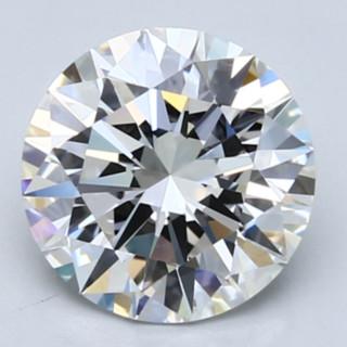 Blue Nile 2.17克拉圆形切割钻石(切工EX,成色E,净度VVS2)
