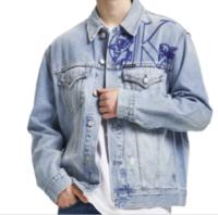 Calvin Klein Jeans 卡尔文·克莱恩牛仔 七夕系列男士纯棉牛仔外套J316900 蓝色M