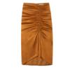 stradivarius 斯特拉迪瓦里斯 女士缩褶铅笔开叉半身裙1254/155-I2020