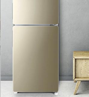 海尔 (Haier) BCD-160WDPT 160升风冷无霜 两门冰箱 炫金