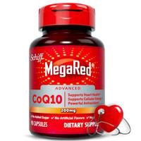 Schiff 旭福 MegaRed 高含量200mg辅酶Q10 软胶囊  90粒/瓶 *2件