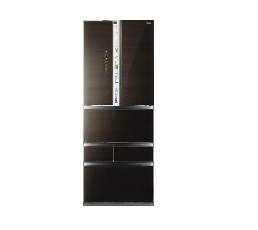 东芝(Toshiba)多门大容量冰箱601升轻触式开门  中置果蔬室约60min快速制冰 GR-RM631WE-PG1A2