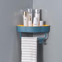 鲁周元素 免打孔浴室置物架 *2件