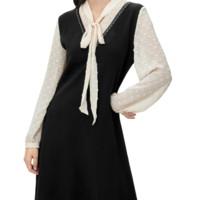 Eifini 伊芙丽 女士职业收腰假两件连衣裙1B8997961 黑色S