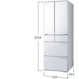 HITACHI 日立 R-XG460JC 多门冰箱 水晶白色 430升