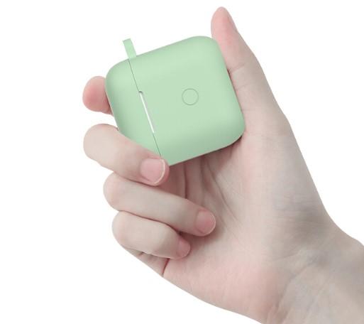 QCY T8 耳机硅胶保护套 嫩绿