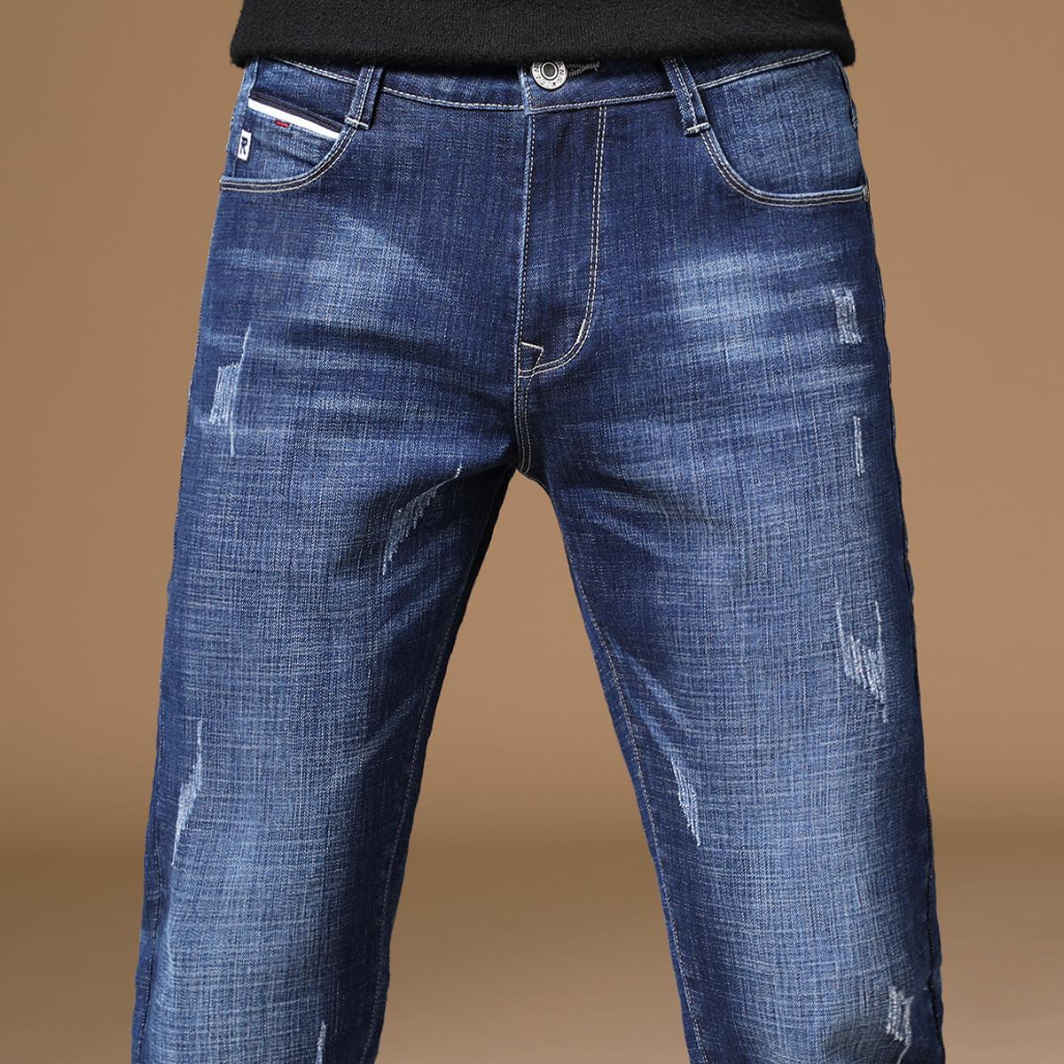 啄木鸟 (爆款,紧急补货中)夏季新品时尚水洗挺括韩版修身长裤男牛仔裤