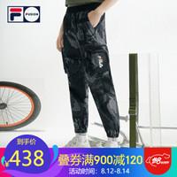 FILA(斐乐)官方2020夏男 深黑底布印花-BK(宽松版型,建议拍小一码) 165/76A/S *3件