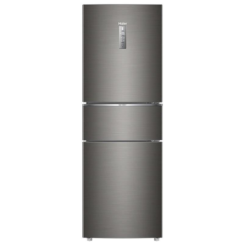 Haier 海尔 BCD-253WDPDU1 定频风冷三门冰箱 253L 深空灰拉丝