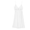 Miss Curiosity 好奇蜜斯 女士蕾丝V领美背吊带睡裙MMSSSQ608-1 白色S