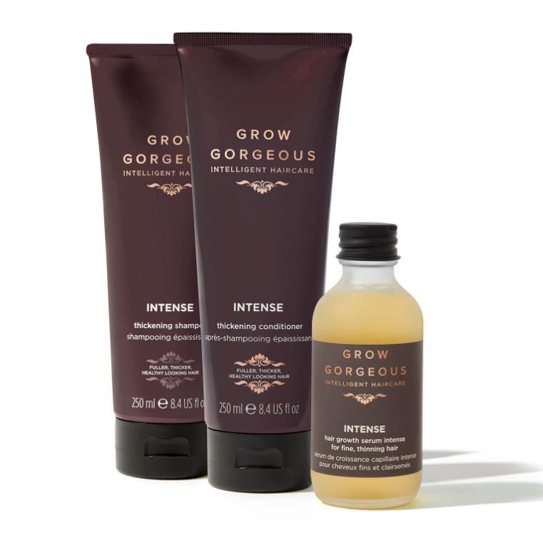 GROW GORGEOUS 强韧防脱洗护套装(洗发250ml+护发250ml+头发增厚精华液60ml)