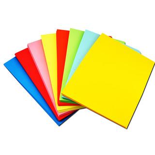 得力a4纸打印复印纸草稿纸免邮学生用彩纸折纸手工卡纸彩色厚手工纸折纸纸正方形a4彩纸儿童折纸材料a4纸一包