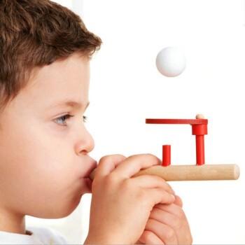 哦咯 木制悬浮儿童吹球器 经典款