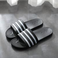 莱杉 男女款三条杠拖鞋