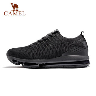 骆驼(CAMEL) 运动气垫鞋男鞋运动鞋减震防滑透气缓震跑鞋 A912397015 男款黑/白 41 *2件