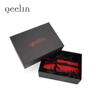 【陈飞宇同款】Qeelin Wulu 百变手链黑色牛皮链带与18K金链扣