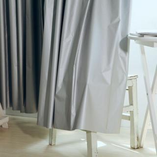 一居尚品 窗帘布料成品全遮光布遮阳布阳台飘窗卧室客厅不透光挡光防晒隔热 宽1.7米高2米挂钩款单片