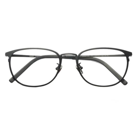 HAN 纯钛近视眼镜框架3312AL+1.60非球面防蓝光镜片