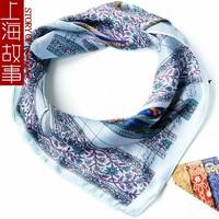 上海故事 53小方巾 女士百搭小方巾