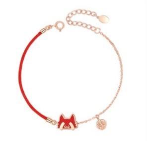 卡蒂罗&故宫上新 SL0462 纯银ins手链御猫驾到·【感温变色】玫瑰金