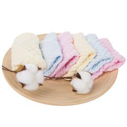 新贝口水巾 新生儿童宝宝纱布毛巾洗脸方巾手帕6条装 8853 *4件