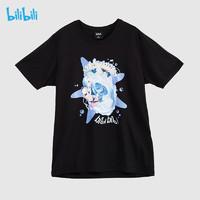bilibili 哔哩哔哩B站周边 2233娘人鱼系列 棉短袖T恤休闲二次元