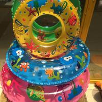 游泳圈 加厚儿童水晶充气加厚腋下救生圈 充气坐圈儿童防护圈 直径50单层水晶圈(随机)
