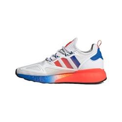 adidas Originals ZX系列 ZX 2K BOOST 中性休闲运动鞋 FV9996 白/蓝/荧光红 41