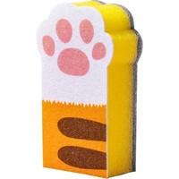 聚可爱 猫爪形清洁海绵块 3块装