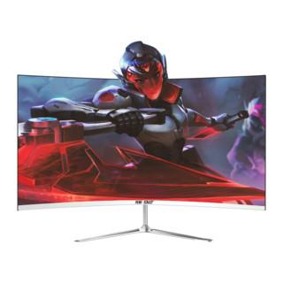 先科24英寸超薄曲面高清电脑显示器办公家用网吧台式电脑IPS4屏幕电竞2K游戏HDMI液晶144HZ无边框4K监控