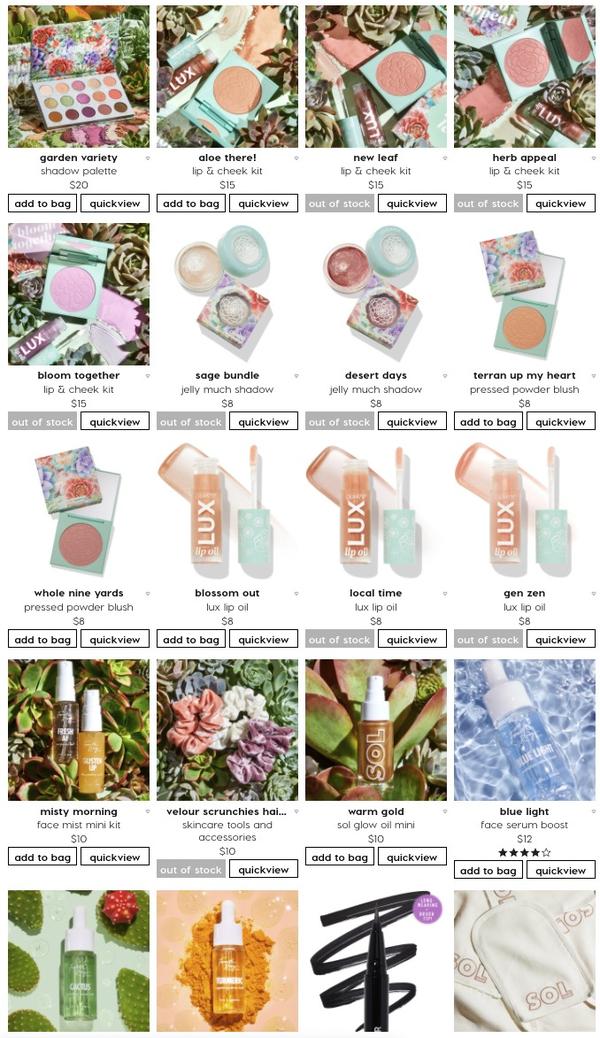 Colourpop 美国官网 新品 Garden Variety系列 上新