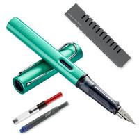 LAMY 凌美 Al-star恒星系列钢笔 蓝绿色 F尖(龙骨盒套装+吸墨器) *3件
